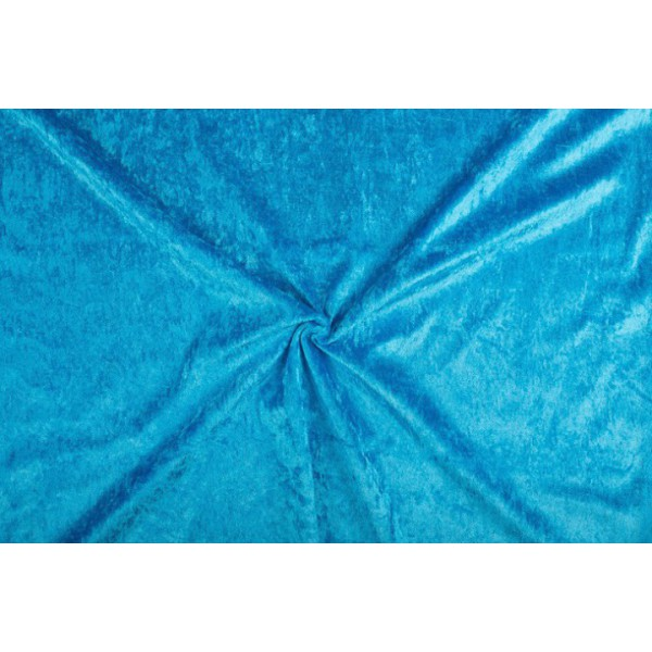 Velours de panne waterblauw