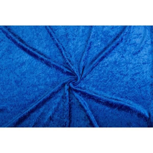 Velour de pannes cobalt - 45m stof op rol