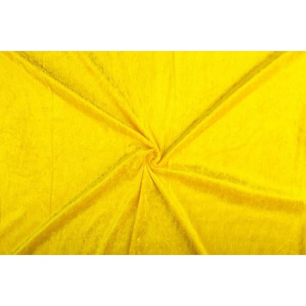 Velour de panne geel