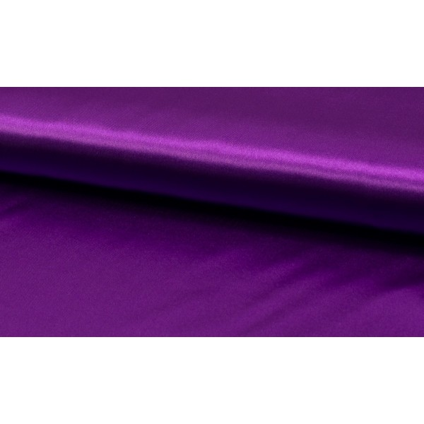 Outlet stoffen -Satijn helder paars