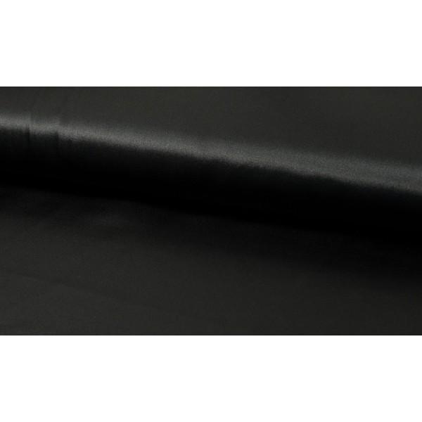 Satijn zwart - Luxe satijn stof op rol - 100% polyester