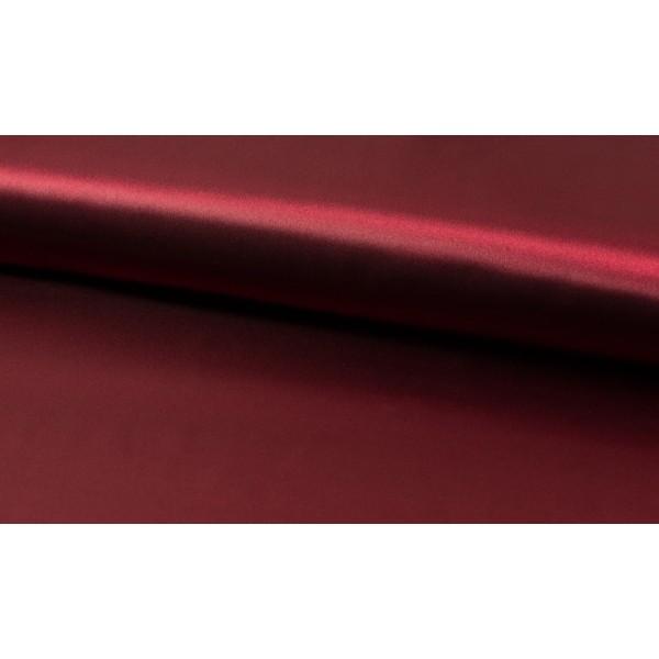 Satijn bordeaux rood - Luxe satijn - 100% polyester