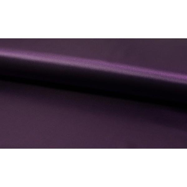 Satijn donkerpaars - Luxe satijn op rol - 100% polyester