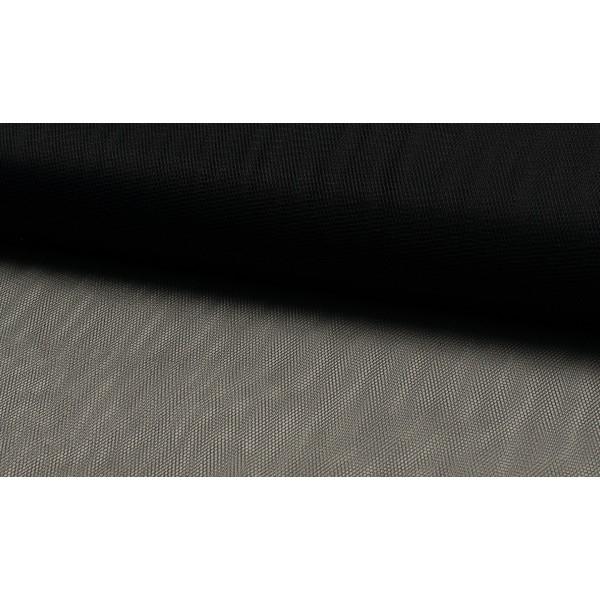 Tule zwart - Tule stof op rol - 100% nylon