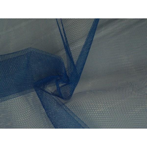 Tule stof - Marineblauw