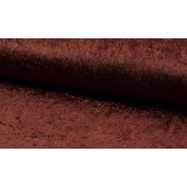 Velour de pannes chocoladebruin - Stof op rol