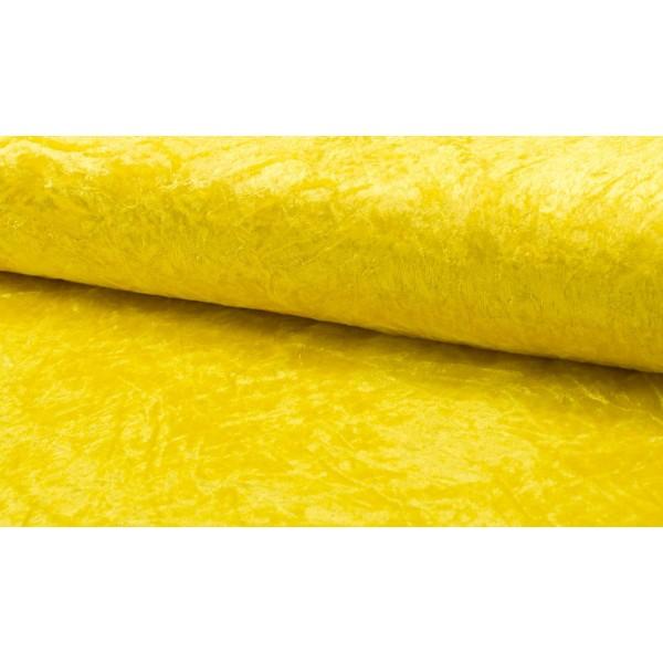 Velour de pannes geel - Stof op rol