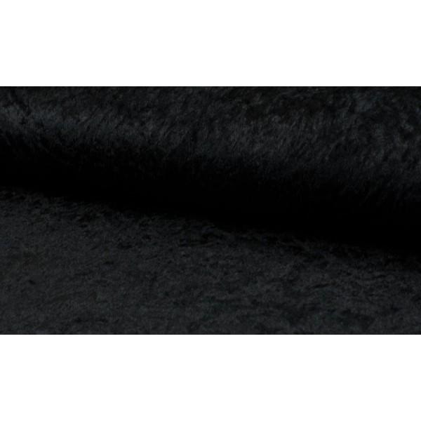 Outlet stoffen -Velours de panne zwart
