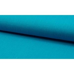 Linnen stof oceaanblauw -  Linnen grof op rol