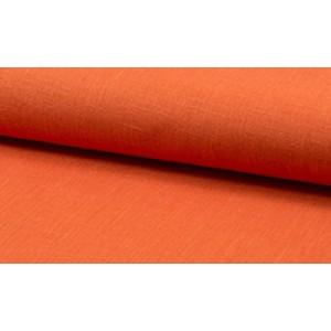 Linnen stof oranje -  Linnen grof op rol