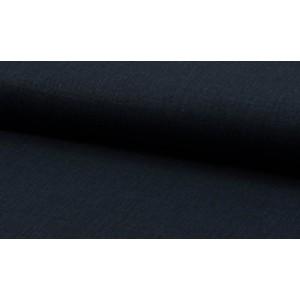 Linnen stof diepdonkerblauw -  Linnen grof op rol