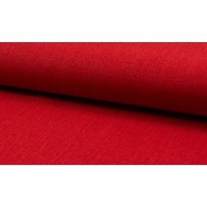 Linnen stof rood -  Linnen grof op rol