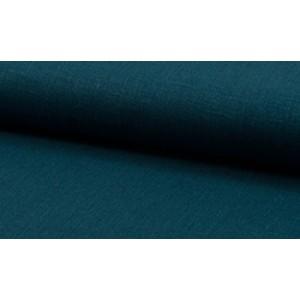 Linnen stof azuurblauw -  Linnen grof op rol