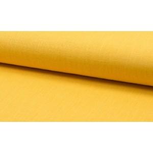 Linnen stof geel -  Linnen grof op rol