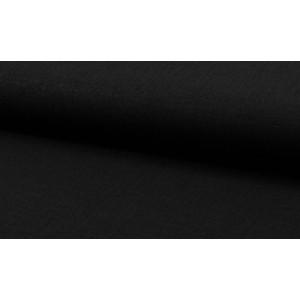 Linnen stof zwart -  Linnen grof op rol