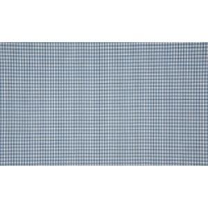 Staalblauw wit katoen - 10m boerenbont stof - Mini ruit