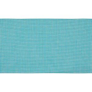 Oceaanblauw wit katoen - 10m stof op rol - Mini ruit