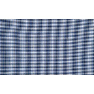 Midnachtsblauw wit katoen - 10m boerenbont stof - Mini ruit