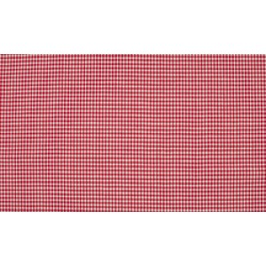 Rood wit katoen - 10m boerenbont stof op rol - Mini ruit