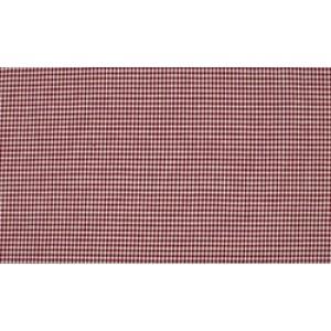 Bordeaux Rood wit katoen - 10m boerenbont op rol - Mini ruit