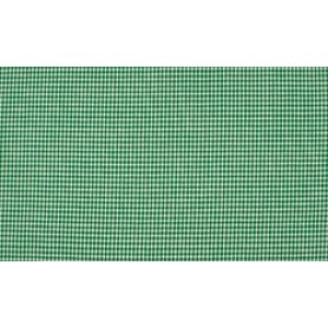 Groen wit katoen - 10m boerenbont stof op rol - Mini ruit