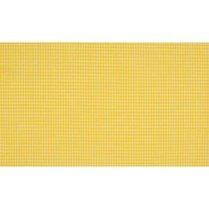 Geel wit katoen - 10m boerenbont stof op rol - Mini ruit
