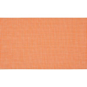 Oranje wit katoen - 10m boerenbont stof op rol - Mini ruit