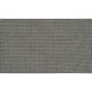Zwart wit katoen - 10m boerenbont stof op rol - Mini ruit