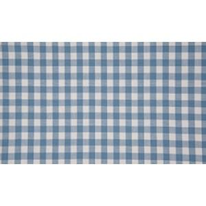 Staalblauw wit geruite stof - 10m boerenbont stof - Katoen