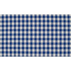 Midnachtsblauw wit geruite stof - 10m boerenbont stof op rol