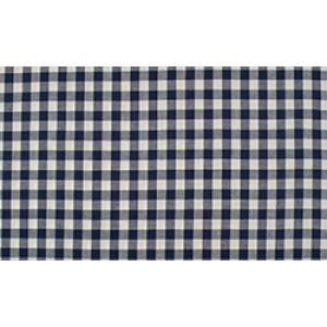 Marineblauw wit geruite stof - 10m boerenbont stof - Katoen