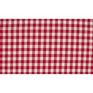 Rood wit geruite stof - 10m boerenbont stof - Katoen op rol