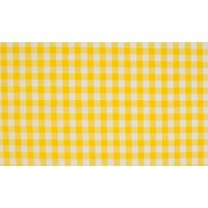 Outlet stoffen -Geel wit geruit katoen