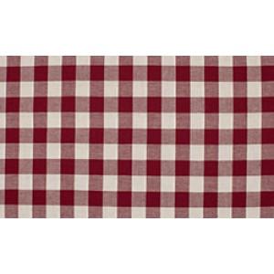 Bordeaux rood wit geruit katoen  - 1 meter