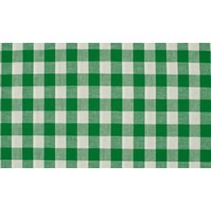 Groen wit geruite stof - 10m katoen op rol - Boerenbont