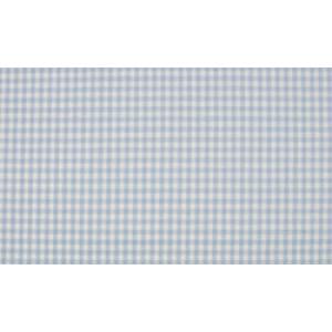 Baby Blauw wit boerenbont - 10m katoen op rol - Kleine ruit