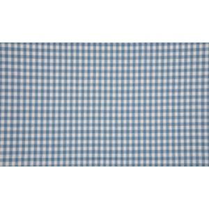 Staalblauw wit boerenbont - 10m katoen op rol - Kleine ruit