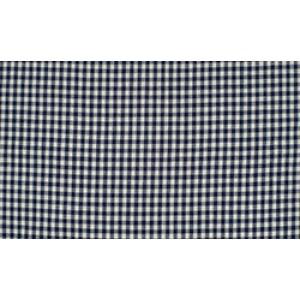 Outlet stoffen -Marineblauw wit geruit katoen