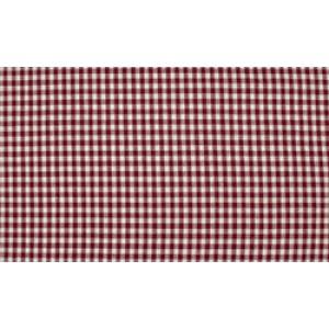 Bordeaux Rood wit boerenbont - 10m katoen - Kleine ruit