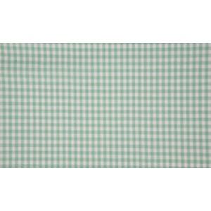 Mint wit boerenbont - 10m katoen op rol - Kleine ruit