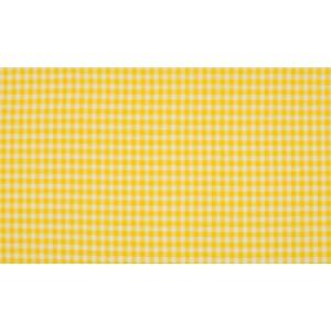Geel wit boerenbont - 10m katoen op rol - Kleine ruit