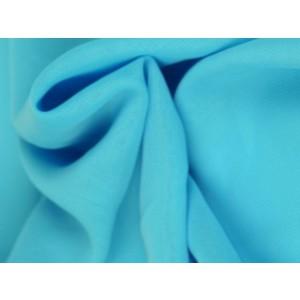 Chiffon stof - Aqua blauw