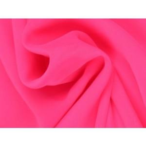 Chiffon stof - Neon roze