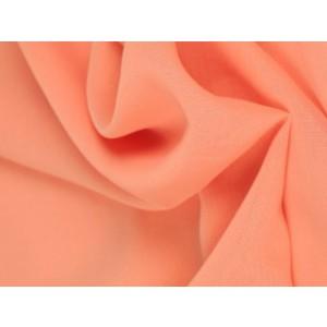 Chiffon stof - Zalmroze