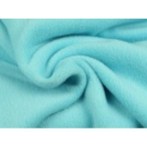 Fleece stof - Aqua blauw