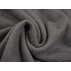 Fleece stof - Donkergrijs