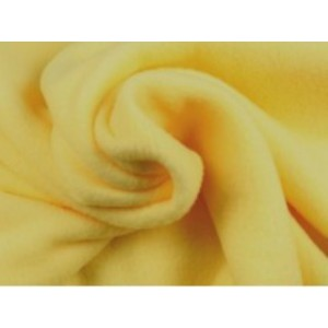 Fleece stof - Licht geel