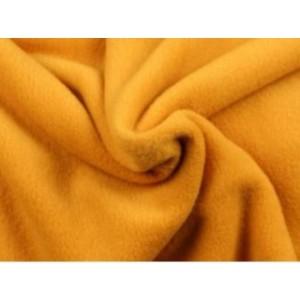 Fleece stof - Okergeel