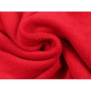 Fleece stof - Rood