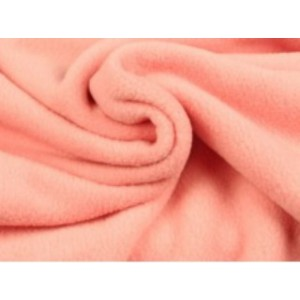 Fleece stof - Zalmroze